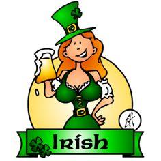 Irish girl on St. Patrick's Day fc T-Shirt design. #Tshirts #illustration #design #drawing #customprint #POD #CardvibesCatalog #Cardvibes #Tekenaartje #Zazzle #Spreadshirt #Redbubble #Society6