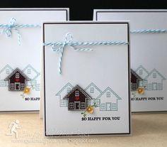 Bright Little Houses by RunningwScissorsStamper: