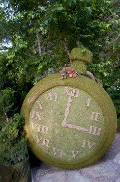 Pocket Watch Topiary for a garden party.