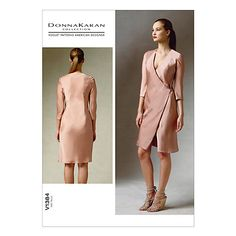 Buy Vogue Donna Karan Women's Dress Sewing Pattern, 1384 Online at johnlewis.com