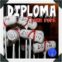 hoopla palooza: diploma cake pops