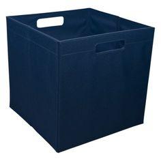 $9.99  itso Large Fabric Storage Bin Dark Blue (fits Ikea Expedit cubes)