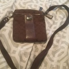 Coach bag Small coach side bag. Small stain on inside but outside is pretty much flawless. Coach Bags Crossbody Bags