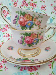 Beautiful vintage tea cups