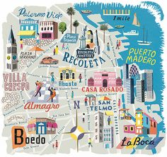 Illustration of Buenos Aires, Argentina