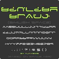 SIMLISH space - a sci-fi simlish font based on Space Age I made this for the GOS advent sci fi day, which I was incredibly late to (story of my life x.x). Anyway, use where you like except don't upload CC using this font to paysites. Credit is adored but not required. Also I love to see your creations =3 DOWNLOAD HERE
