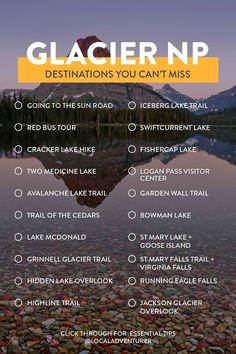 Your Ultimate Guide to Glacier National Park Things to Do, Tips for First Timers, Where to Stay and More // Local Adventurer Glacier National Park Montana, Glacier Park, New Orleans, The Last Summer, Las Vegas, Angeles, Roadtrip, Road Trip Usa, Vacation Trips