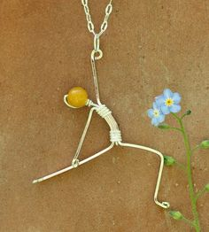 Reverse warrior yoga pose sterling silver yoga by EarthJewelry