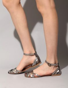woven silver sandals from pixie market