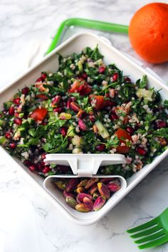 Pistachio and Pomegranate Tabbouleh is a fresh and vibrant salad ...