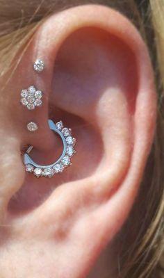 Brice Swarovski Crystal Daith Piercing Clicker in Silver - Daith Piercing Jewelry Swarovski Crystal Clicker Hoop – Ear Piercings – MyBodiArt Informations A - Helix Earrings, Bar Stud Earrings, Cartilage Earrings, Circle Earrings, Crystal Earrings, Helix Ring, Cluster Earrings, Silver Earrings, Tragus Stud