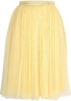 Needle & Thread Pleated tulle skirt