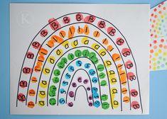 name practice rainbow