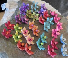 Spring collection of polymer clay floral earrings. My new original design.