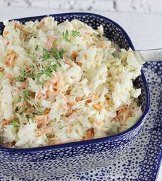 Surówka Colesław | AniaGotuje.pl Grill Party, Coleslaw, Kfc, Pasta Salad, Risotto, Potato Salad, Macaroni And Cheese, Cabbage, Recipies