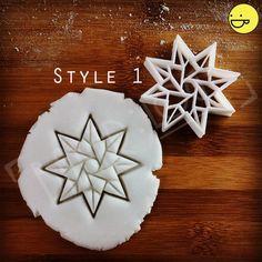 Origami Stern Ausstecher | Plätzchen-Scherblock (8 Seiten) | Fraktale Kunst Sternen von einem freundlichen ooak