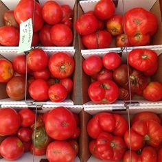 We can't get enough of these #tomatoes this summer! Stop by Union Square Greenmarket to pick some up! Open M/W/F/Sat 8AM-6PM #Manhattan #farmersmarketnyc