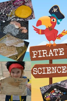Fun collection of easy pirate themed science experiments for kids! #scienceforkids #piratescience #scienceexperiments #scienceforearlyyears Pirate Activities, Preschool Science Activities, Science Experiments Kids, Science For Kids, Science Projects, Activities For Kids, Pirate Day, Pirate Theme, Early Years Framework