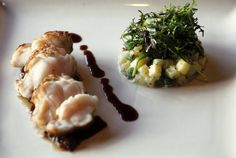 Monkfish and potato salad at Oak. Photo by Eve Edelheit