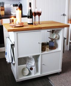 Dit kookeiland is gemaakt van de IKEA KALLAX kast | This kitchen island is made from the IKEA KALLAX! #ikea #hack #kallax #diy | Eigen Huis en Tuin