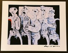 """Giclee Art Print """"GREGO: No.2"""", Limited Edition Hand Signed Art Print Sumi Ink, Limited Edition Prints, Giclee Print, Moose Art, Oil Painting On Canvas, Authenticity, Certificate, Fine Art, Art Prints"""