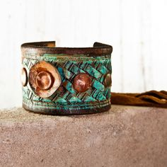 Nature  Bohemian Bracelet  Gypsy Jewelry Turquoise by rainwheel