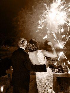 Tom and Frances and Wedding Night Fireworks at Rancho La Zaca, Los Olivos CA, via FrancesSchultz.com
