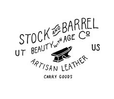 Summer '14 | Stock and Barrel Co by Parker Lichfield, via Behance