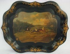 Painted English Tole Tray
