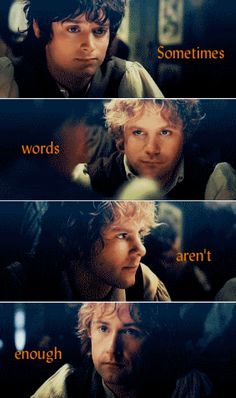 Hobbits excel in saying a lot without saying a word. From Concerning Hobbits Facebook page.