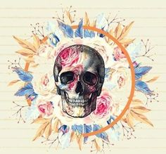 None of these images are mine =) Sugar Skull Halloween, Bare Bone, Skull Wallpaper, Skulls And Roses, Painting Of Girl, Skull Tattoos, Skull Art, Skeletons, Rainbow Colors