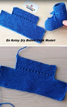 Einfachste Spieß Baby Booties Modell – Patik Modelleri – Awesome Knitting Ideas and Newest Knitting Models Baby Booties Knitting Pattern, Crochet Baby Booties, Baby Knitting Patterns, Knitting Designs, Baby Patterns, Diy Crafts Knitting, Diy Crochet Projects, Easy Knitting, Baby Boots