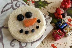 Little Food Junction: Merry Christmas ~ Snowman Sandwich