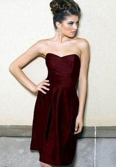 Sleeveless Taffeta A line Sweetheart Knee Length Bridesmaids - Angeldress.co.uk