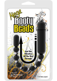 Buy Mega Booty Beads Anal Toy Waterproof Vibrating 12 Inch Black online cheap. SALE! $32.99