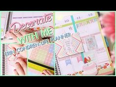 PLAN WITH ME - ERIN CONDREN LIFE PLANNER 2015 | Bethni - YouTube