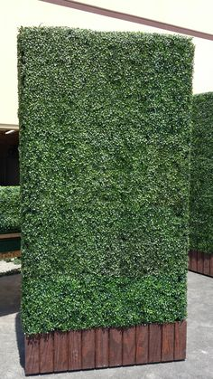 how to build a fake shrub wall