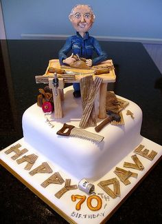 Birthday Cakes For Girls - Novelty Birthday Cakes 75 Birthday Cake, Unique Birthday Cakes, Novelty Birthday Cakes, 75th Birthday, Dad Cake, Chocolate Fondant, Cakes For Men, Edible Cake, Occasion Cakes