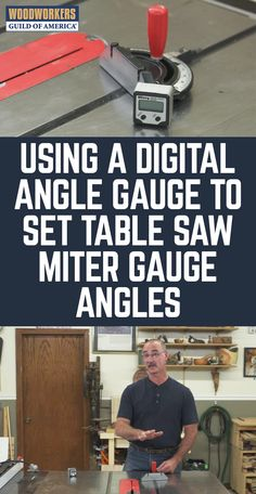 """A table saw miter gauge is a handy """"must have"""" accessory that can be used for a variety of applications. There are a variety of ways to set this up so that it is perfectly square, and George demonstrates a couple ways to do that here. Assuming that you have mastered the basics of how to use a table saw, and understand the process of tuning the miter gauge so that it can enable perfectly square cutting, it is now time to tackle the next challenge which is to set your table saw miter gauge to…"""