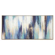 Valentina Matt Classic Abstract Foil Canvas - Natural Frame