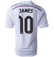 Real Madrid CF 2014- 2015 Season JAMES #10 HOME SOCCER JERSEY