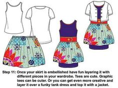 Craft your own full and flirty (NO Sew) tee-shirt skirt - CLOTHING