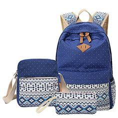 MingTai Backpack Mochilas Escolares Mujer Mochila Escolar Lona Bolsa Casual Para Chicas Bolsa De Hombro Mensajero Billetera, http://www.amazon.es/dp/B01HJPD6A4/ref=cm_sw_r_pi_awdl_x_gFXhybGS211MK   color caqui. (la marrón)