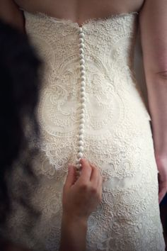 my perfect wedding dress would have to have buttons and lace like this. Bridal Gowns, Wedding Gowns, Our Wedding, Lace Wedding, Dream Wedding, Wedding Dress Backs, Wedding Bells, Perfect Wedding, Just In Case