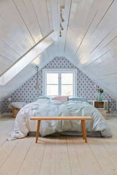 "gravity-gravity: ""Best of 2015: Attic BedroomsI've posted a lot of gorgeous interiors this year, so I thought about making a 'Best of 2015′ post series. And the first one is about attic bedrooms, I..."