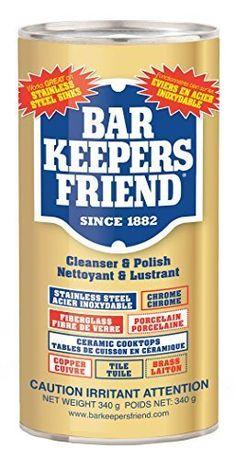 Servaas Labs 11510 Bar Keepers Friend Cleanser And Polish 12 Ounce. Bar Keepers Friend, 12 OZ Cleanser and Polish. How To Clean Rust, How To Remove Rust, Removing Rust, Clean Clean, Chicken Curry, Remove Rust From Metal, Bar Keepers Friend, Tuile, Porcelain Sink