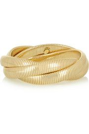 Kenneth Jay LaneIntertwined gold-plated bracelet