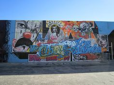 A los angeles graffiti wall i photographed while taking for 18th street gang mural