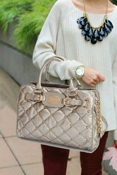 Michael Kors Quilted Stud Large