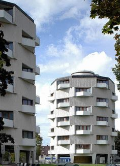 High-rise Apartment Buildings (1960-62) in Lahr, Germany, by Klaus Humpert and Hans-Walter Henrich